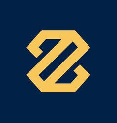 luxury letter z initial logo vector image