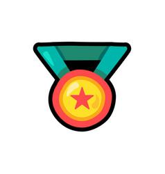 medal cartoon color vector image