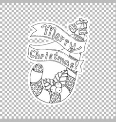 Merry christmas lettering hand drawn vector