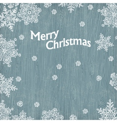 Merry christmas vintage greetings vector