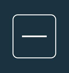 minus outline symbol premium quality isolated vector image