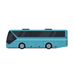 Modern passenger bus side view public vector