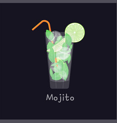 mojito summer beach refreshing tropical cocktail vector image