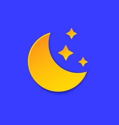 moon weather forecast info icon yellow night vector image