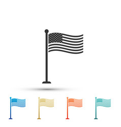 national flag of usa on flagpole american flag vector image