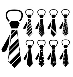 Necktie icon set vector