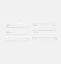 neumorphic search bars light ui design elements vector image