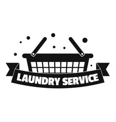 new laundry service logo simple style vector image