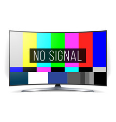no signal tv test lcd monitor flat screen vector image