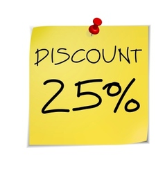 Notes discount vector image