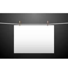 One hanging paper vector