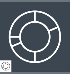 pie chart related line icon vector image