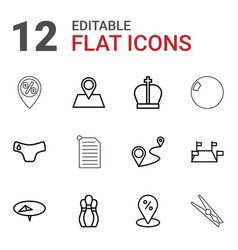 Pin icons vector