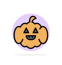 Pumpkin american usa abstract circle background vector