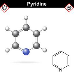 Pyridine organic solvent molecular structure vector