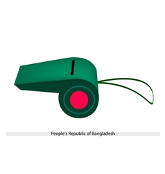 Red Disc on Green Color of Afghanistan Whistle vector image