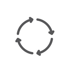 Reload and repeat line icon vector