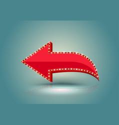 Retro red arrow vector