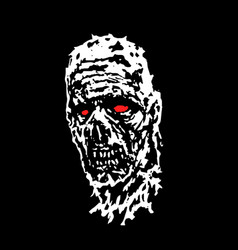 scary zombie head vector image