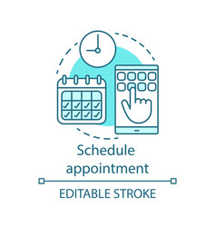 Schedule appointment concept icon vector