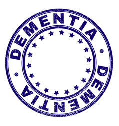 scratched textured dementia round stamp seal vector image