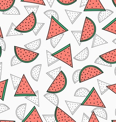 Seamless pattern with color and monochrome vector image