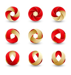 Set abstract round vector image