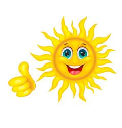 smiling beautiful sun vector image