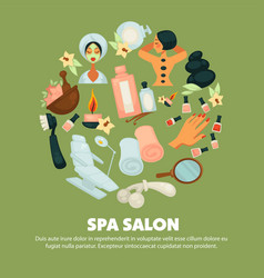 Spa salon with high quality skincare services vector