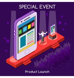 Special Event People Isometric vector
