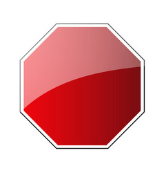 stop traffic road sign blank prohibited red vector image