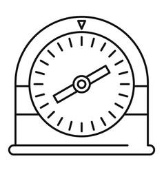 Swim clock icon outline style vector