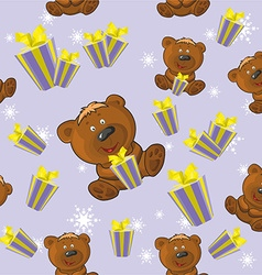 Teddy bear pattern vector