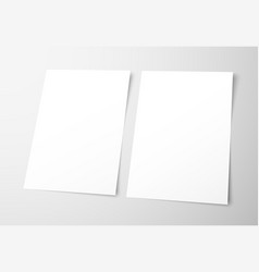 templates of empty flyers on a gray background vector image