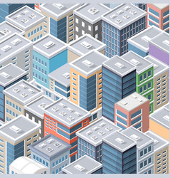 top view of cityscape vector image