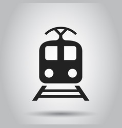 train transportation icon business concept train vector image