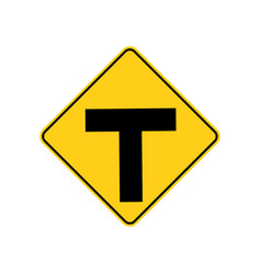 usa traffic road sign intersection warning vector image
