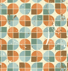 Vintage bright rounded geometric seamless pattern vector