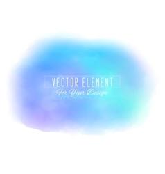 Watercolor spot azure colors vector