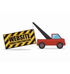 website under construction design vector image