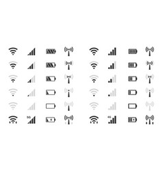 wifi level icons signal strength indicator vector image