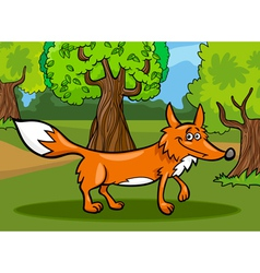 Wild fox animal cartoon vector