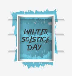 winter solstice day frame decoration vector image
