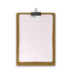 Wooded clipboard with lined paper vector