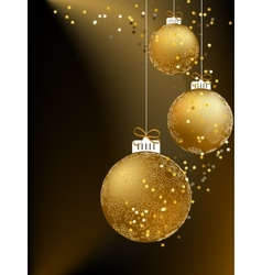 Christmas ball made from a golden snowflakes EPS8 vector image vector image