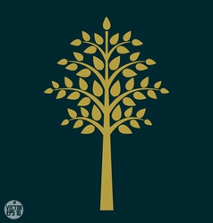 Gold tree symbol in Asia style vector image