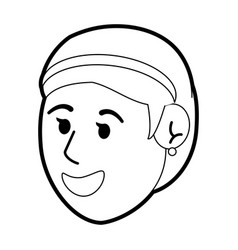 Happy young women face vector