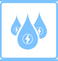 hydro energy drops icon vector image vector image