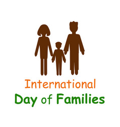 international family day silhouettes of people vector image