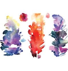 Watercolor splatters vector image vector image
